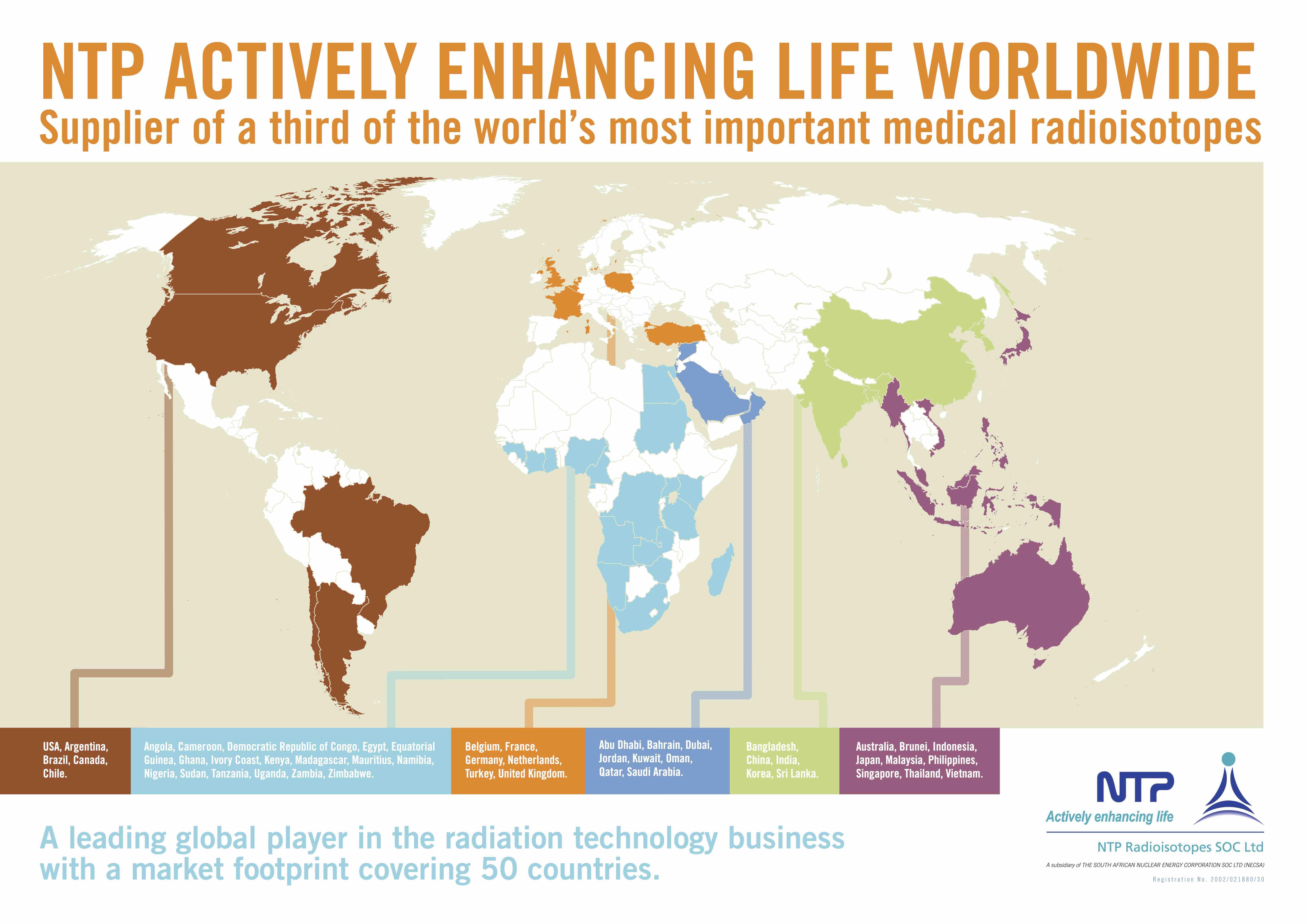 NTP GLOBAL FOOTPRINT 50 COUNTRIES