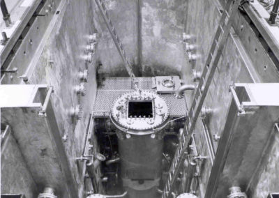 Reactor Vessel installed in reactor pool